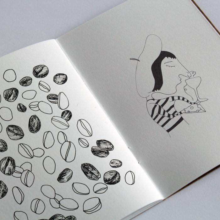 Blandade illustrationer, svartvita